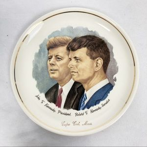 Vintage decorative plate JFK RFK Kennedy MCM